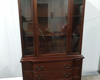 """Solid mahogany cabinet from the Georgetown Collection. Measures 44""""x17""""x76"""". It does not appear to come apart, so be prepared to take it whole. Link to Mahogany Association Labels. https://ctbids.com/#!/description/share/1012593"""