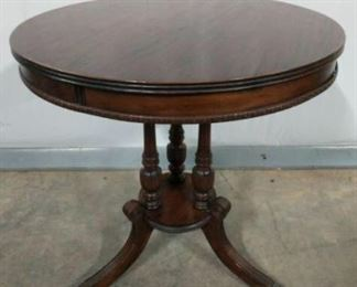 """Table measures 26"""" in diameter and 27""""tall. https://ctbids.com/#!/description/share/1012598"""