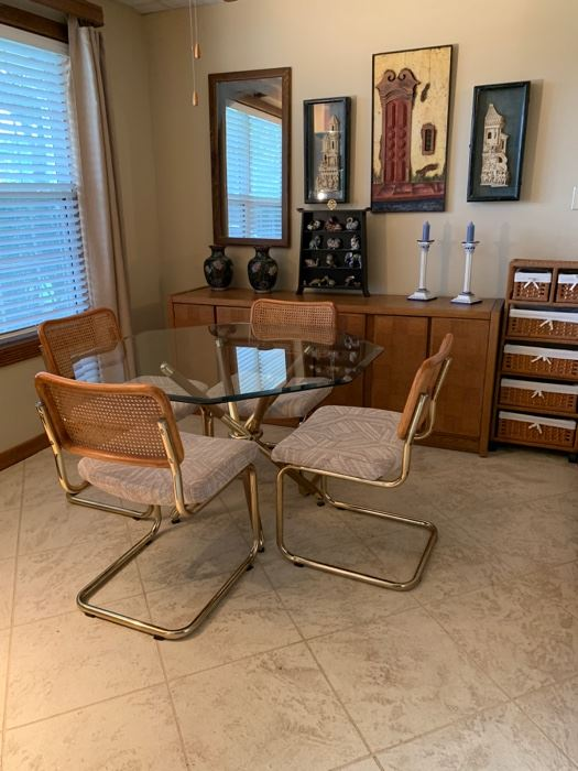Chromecraft table and chair set is SOLD