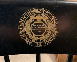 #18Carnegie Institute of Technology Pittsburg, PA 1912 desk chair $80.00