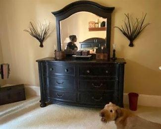 Hooker furniture dresser with mirror