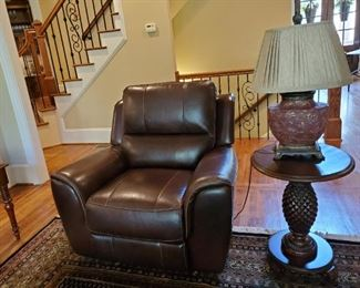 Leather reclining chair nearly new!