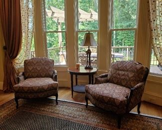Pair of upholstered chairs from Ethan Allen