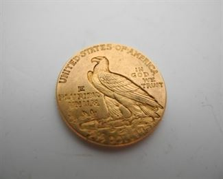 1912 GOLD Indian Head - $2.50 Coin