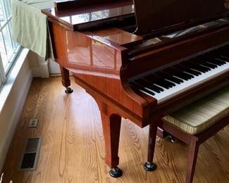 """1983 K. KAWAI CLASSIC GRAND PIANO, BRAZILIAN ROSEWOOD, POLISHED FINISH, 5'10""""   (HAS PARTIAL SUN FADING)    Was $6,800, Then $6,000, NOW $5,000!"""