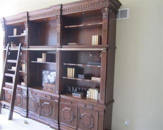 6 PIECE WALL UNIT WITH ELECTRIC AND LADDER IN PERFECT CONDITION
