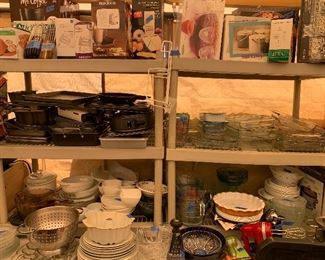 Pyrex, glass wear , many new in the box appliances
