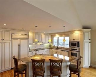 Kitchen - gorgeous; Sub-Zero refrigerator, Wolf cooktop, Dacor wall oven & microwave