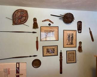African spears, art, other collectibles