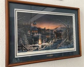 Terry Redlin signed and numbered print