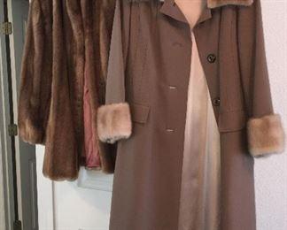 Fur coats and fur trim coats