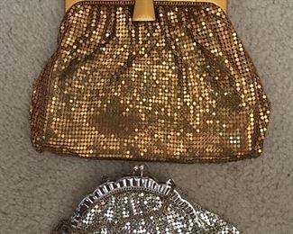 Whiting and Davis vintage hand bags