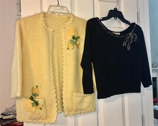 A few pieces of vintage clothing