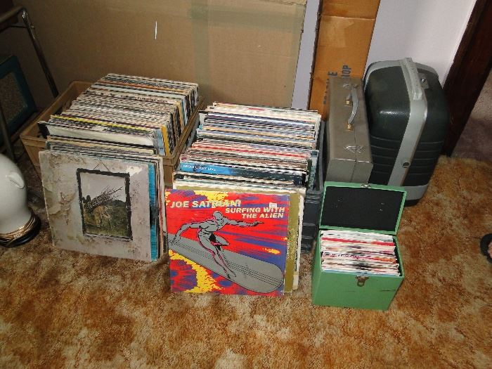 Rock and Roll LPs and 45 records