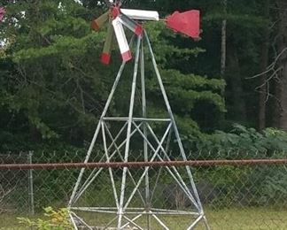 Beautiful handmade windmill (approx. 15+ ft)  super heavy will take at least 3 strong men to move!