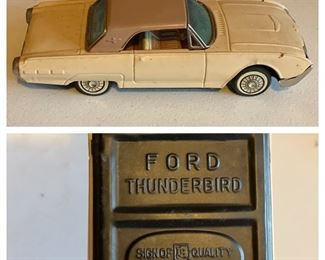 Bandai Tin Lithograph Ford Thunderbird