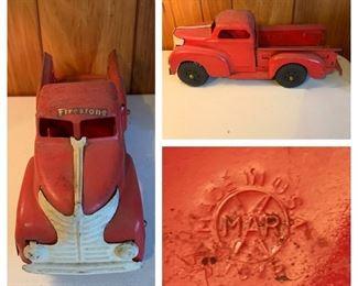 Marx Pressed Steel Firestone Truck