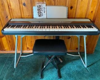 Korg SP 250 Digital Piano  w/ Stand and Stool