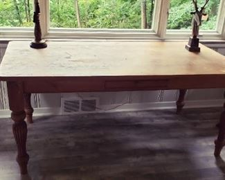 """Dining Table - Solid Wood with storage drawer.  71.5""""L x 36.75""""W x 30.5H AVAILABLE FOR PRE-SALE  Contact us at ContactMVP@MooreValuePros.com"""
