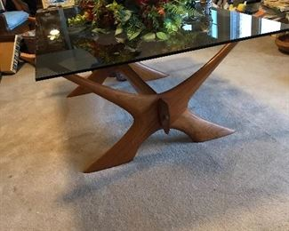 This smoked glass coffee table came from Norway