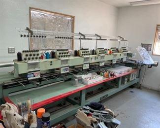 Tajima 6 Head Embroidery Machine