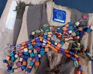Vintage Camp Fire Girls Uniform with Handmade Beaded Necklaces