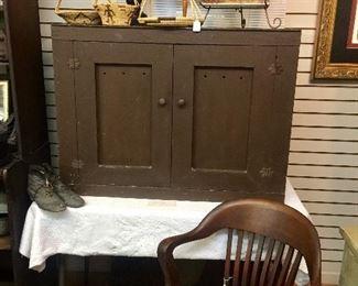Antique hanging primitive pie safe