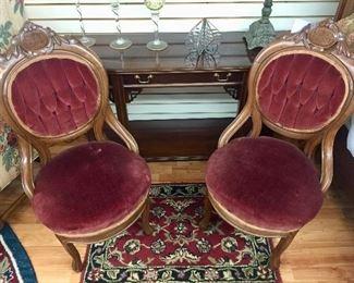 Pair antique Victorian chairs