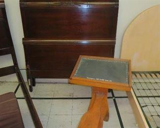 Antique Twin Bed & Desk