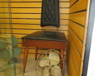 MCM Chair & Antique Fan