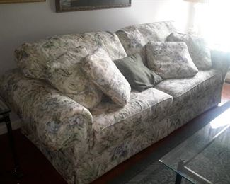 Floral sofa / w matching chair & love seat
