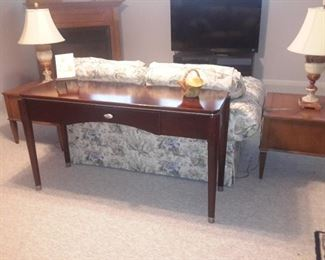 Cherry wood sofa table