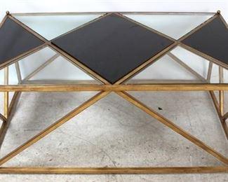 7 - Jonathan Charles marble & glass coffee table 20 x 48 x 30
