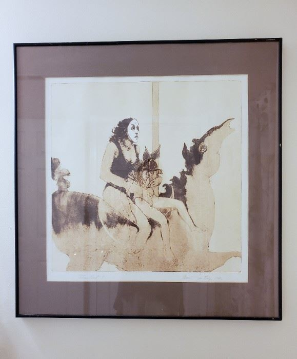 Untitled - Merry Go Round - II by Ramon Santiago signed with signature and Patrons Print I