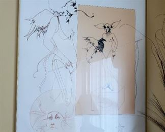 Ramon Santiago, Untitled - Number 5 (38), Lithograph, signed with signature and Patrons Print I