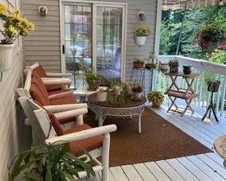 Lovely Outdoor Furniture & Plants