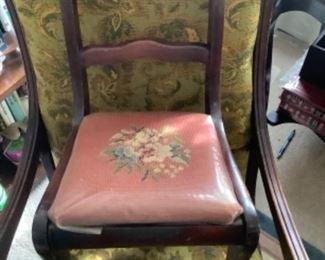 Needlepoint child chair