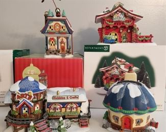 "Dept. 56 ""Santa's Reindeer Rides"" & Three More! https://ctbids.com/#!/description/share/1017360"