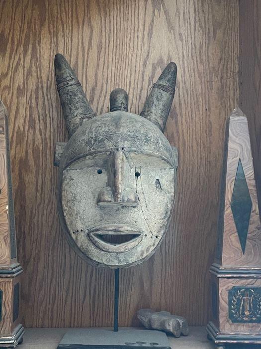 African Mask w Horns