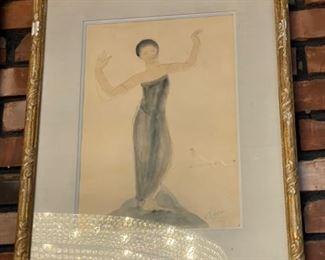 Art Rodin Women in Grey Dress