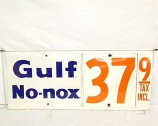 38X16 DOUBLE SIDE GULF NO NOX PRICE SIGN