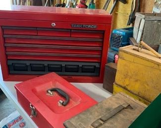 Lots of tool boxes in great shape.