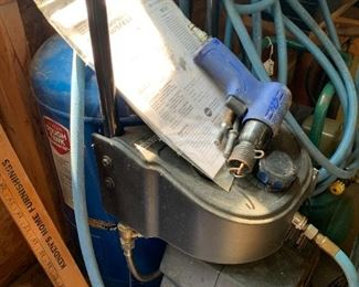 Air compressor in great shape.  We've been using this one.