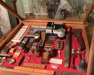 Great treasures.  There's an old, old bayonet.