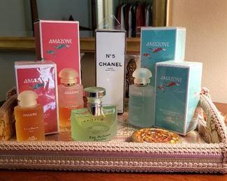 Unopened Amazone and Chanel perfumes
