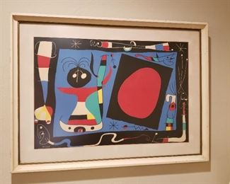 """Joan Miro """"Woman in Front of Mirror"""" 1956 lithograph"""