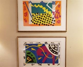 The two Matisse stencils together