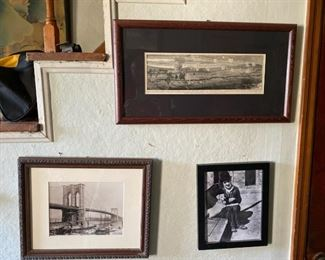 Artwork, framed photos