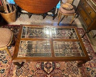 VTG Coffee Table, beveled glass (Sturdy)