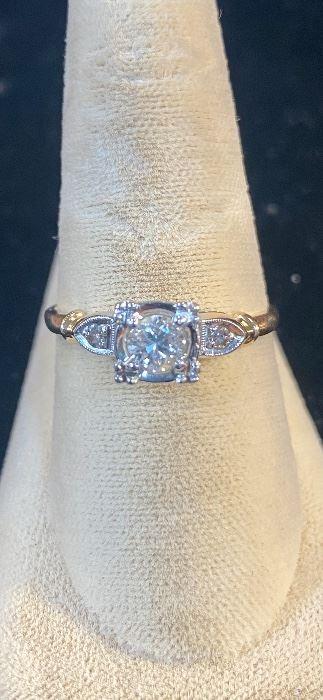 14K Gold 1/2 Carat Diamond Ring